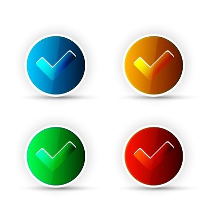 Check Button Stock Vector - 14151375