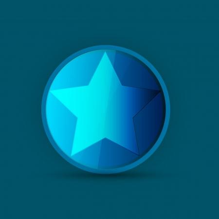 judaic: blue star icon on blue