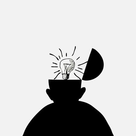Bright brilliant idea Vector