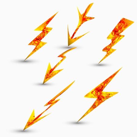 rayo electrico: de gran alcance symbo de iluminaci�n Vectores