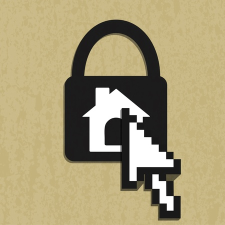 Lock house icon Vector