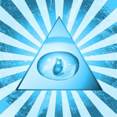 ojo de horus: Pir�mide de los ojos Vectores