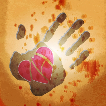 Loving hand. abstract background Stock Vector - 14152341