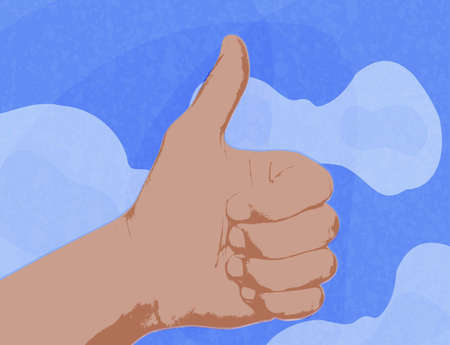 showing Thumbs Up, Like symbol Stock Vector - 14151736