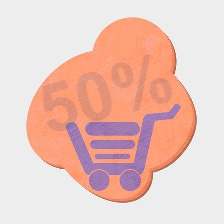 checkout line: shopping cart Illustration