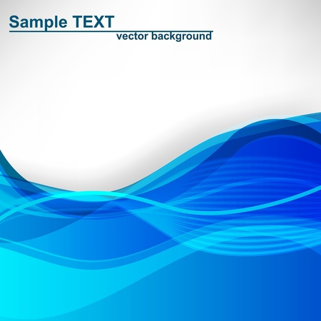 blue waves: Abstract background. illustration. Illustration