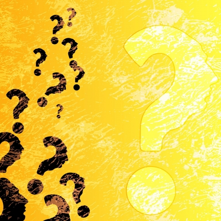 symbol of question mark in colorful background.