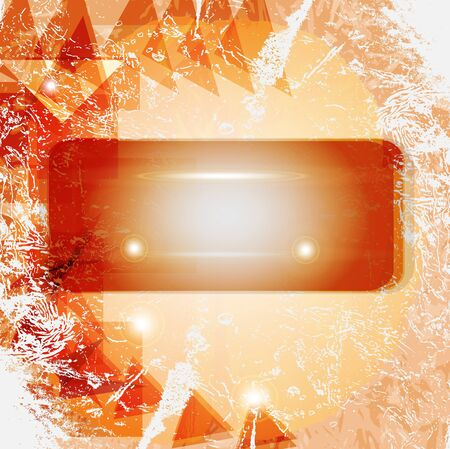 Red and orange retro abstract background photo
