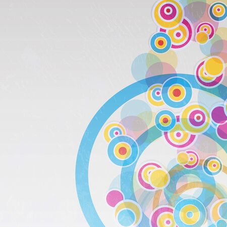 Connected circles  Abstract background Vector