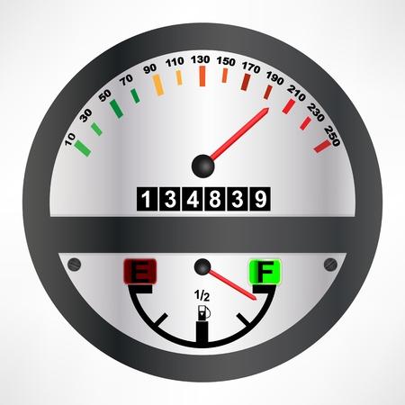 mileage: Car speedometer
