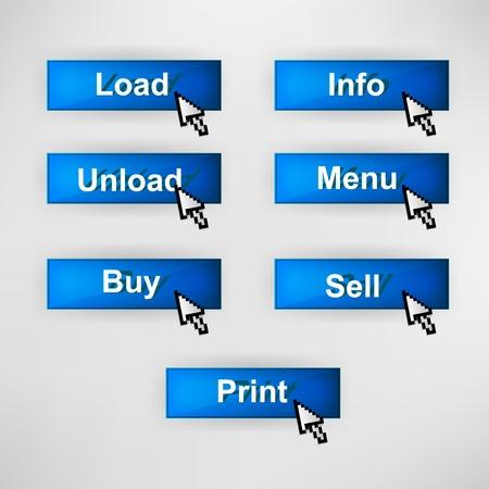 Settings blue design elements for website or app Stock Vector - 14299137