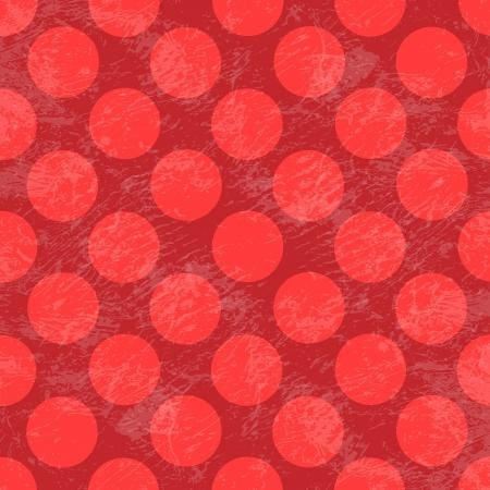 red polka dots: Polka Dot patr�n de grunge Vectores