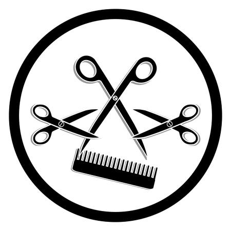 haircutting: haircut or hair salon symbol