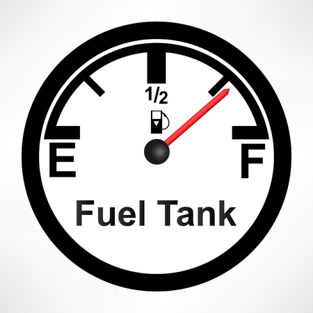 White Gas Tank Illustration Vector