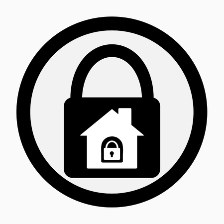 Lock house icon photo
