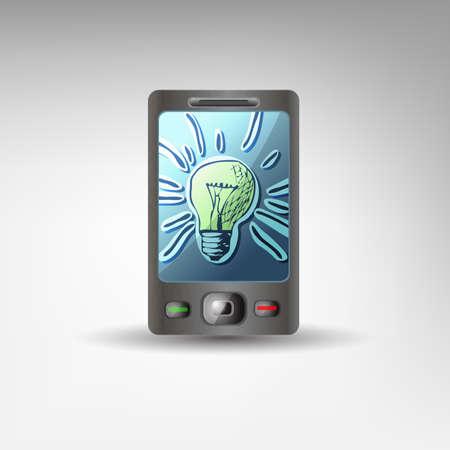 stylish conceptual digital light bulb idea design Stock Photo - 15777547
