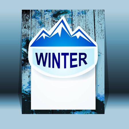 Vector mountain landmark emblem Stock Photo - 15777579