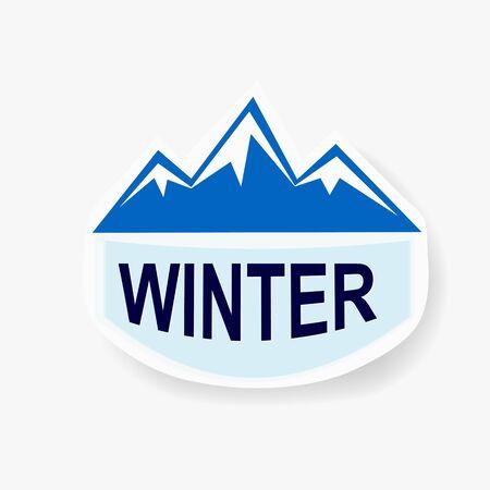 Vector mountain landmark emblem Stock Photo - 15777539