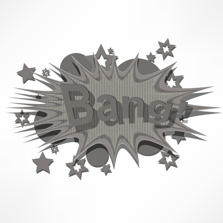 Bang. Comic book explosion. Vector