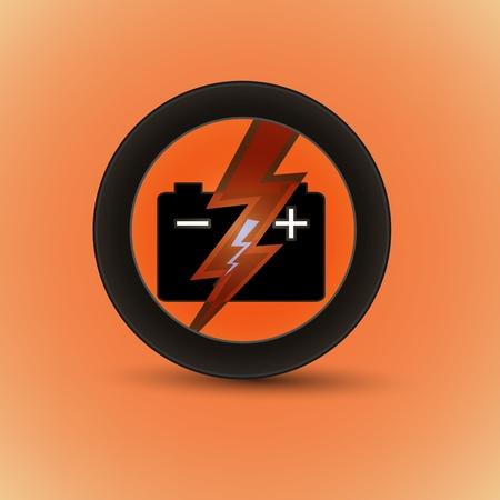 alternator: Car battery stickers