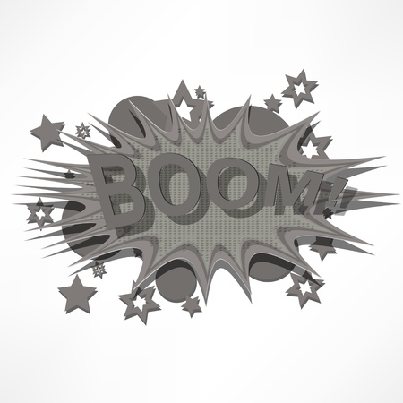 Boom. Comic book explosion. Stock Vector - 15777558
