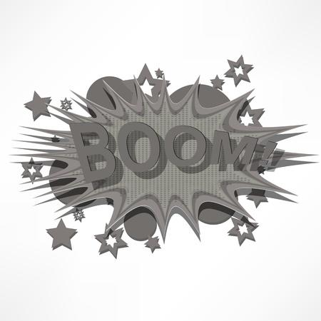 Boom. Comic book explosion. Stock Vector - 15777558