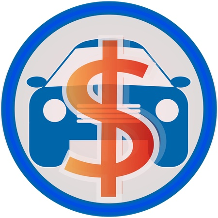 automobile service icon sale Stock Vector - 15777556