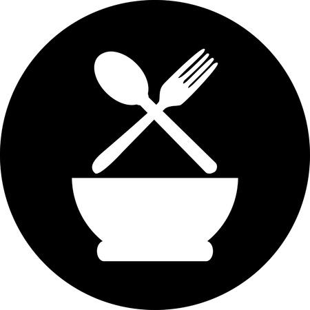 sopa: restaurante men� cartel retro