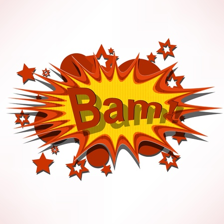 Bam. Comic book explosion. Stock Photo - 15885611