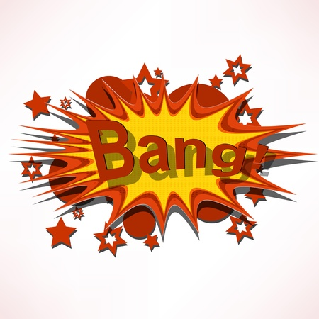 Bang. Comic book explosion. Stock Photo - 15885588