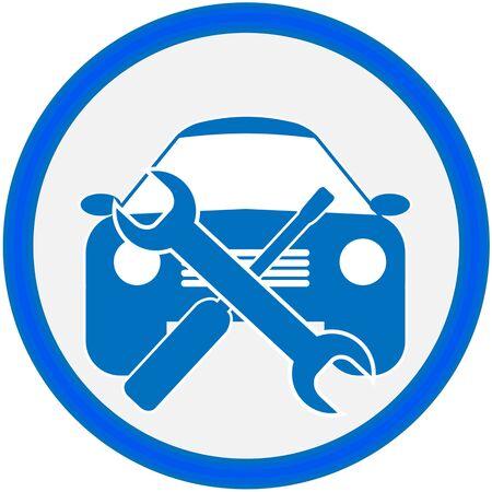 Auto repair shop sign. Vector illustration. Stock Illustration - 15885574