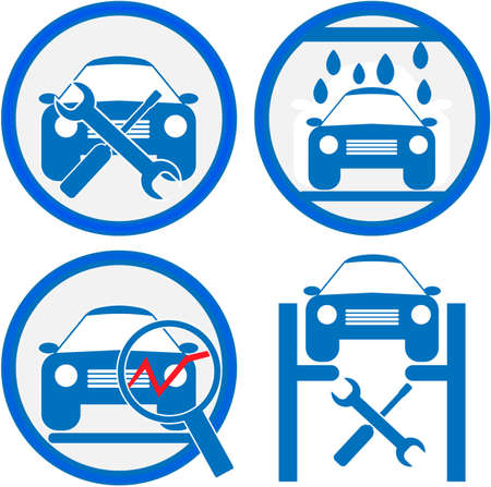 car service icon Stock Photo - 15885580