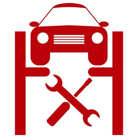 service lift: car service icon