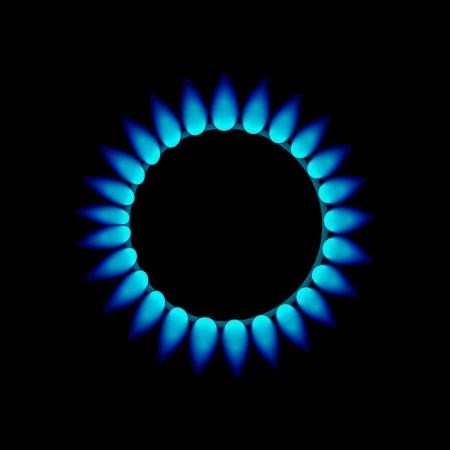 vector flames of gas Stock Photo