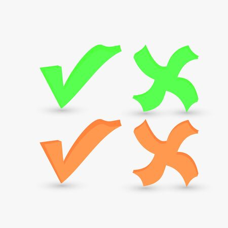 vector check marks Stock Photo - 15885495
