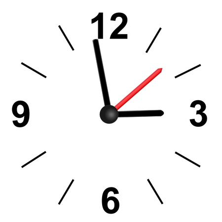 object with face: Vector clock icon Illustration