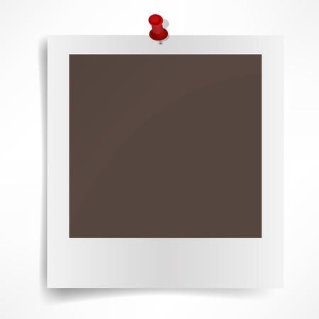 Polaroid photo frame isolated on white background  Vector illustration  イラスト・ベクター素材