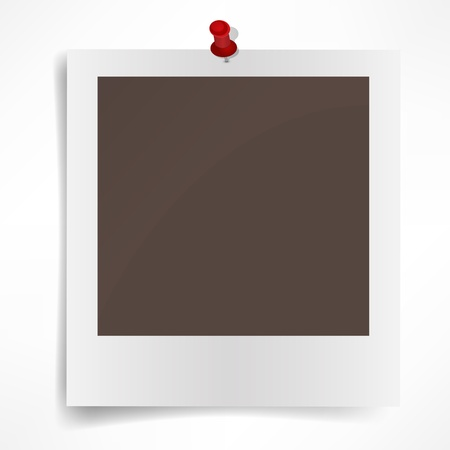 Polaroid photo frame isolated on white background  Vector illustration Ilustração