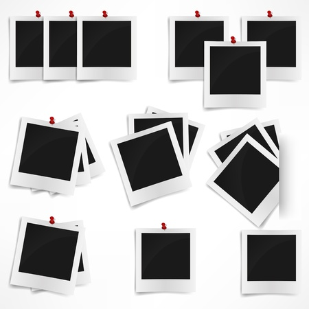 Polaroid photo frame isolated on white background  Vector illustration 일러스트
