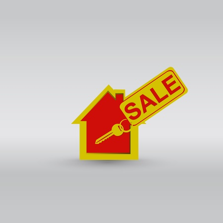 House key ring vector Vector