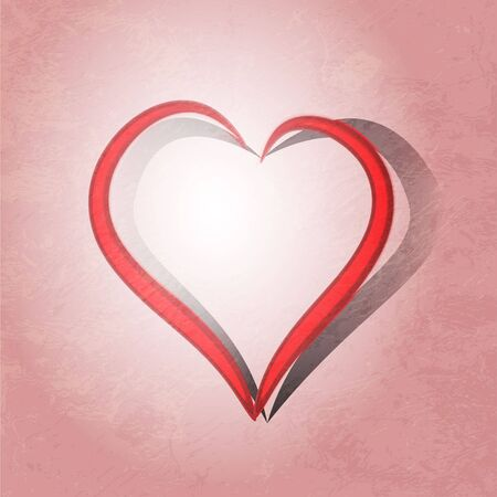 Painted brush heart shape Stock Photo - 16168844