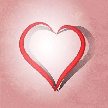 Painted brush heart shape Stock Photo - 16168844