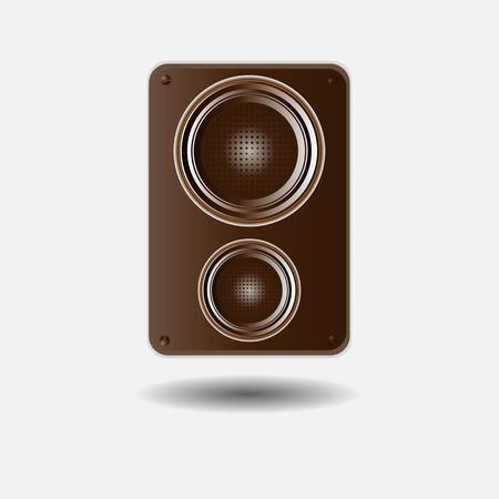 musical speaker vector illustration isolated on white background Stock Illustration - 16168790