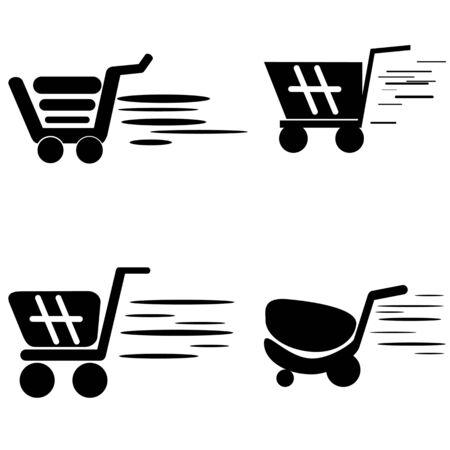 checkout line: shopping cart Stock Photo