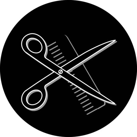 haircut or hair salon symbol photo