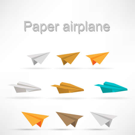 paper airplane: origami airplane set.