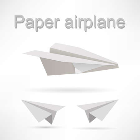 origami airplane set. photo