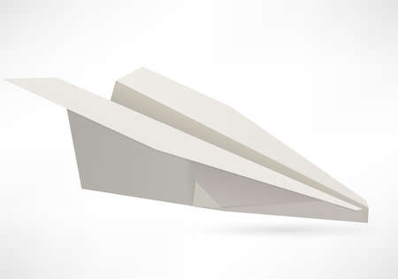 vector paper aircraft photo