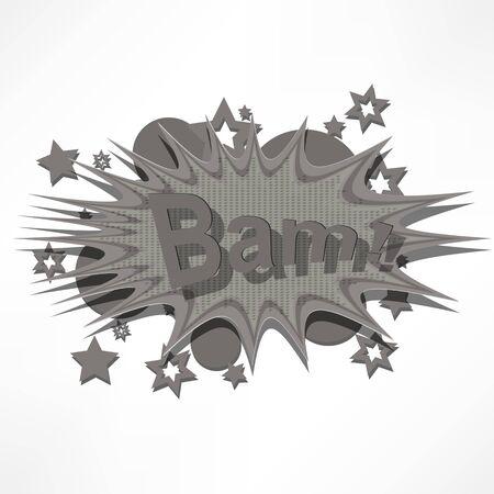 Bam. Comic book explosion. Stock Photo - 16538975