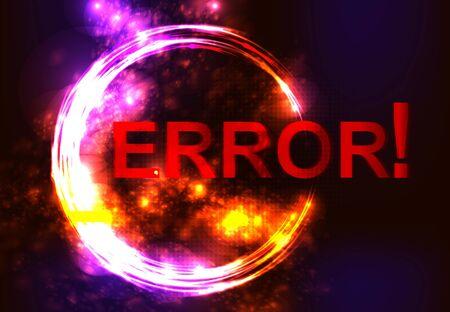 blunder: error message on network failure.